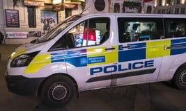 Coche policía LONDRES, Inglaterra - Reino Unido de Londres - 22 de febrero de 2016 Foto de archivo libre de regalías