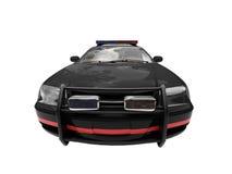 Coche policía negro aislado Imagen de archivo libre de regalías
