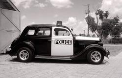 Coche policía retro Imágenes de archivo libres de regalías