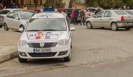 Coche policía rumano fotos de archivo