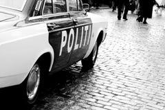 Coche policía viejo Fotografía de archivo libre de regalías