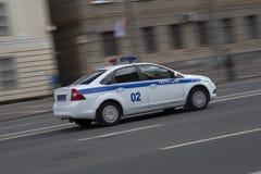 Coche policía Foto de archivo libre de regalías