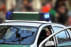 Coche policía alemán   Imagenes de archivo