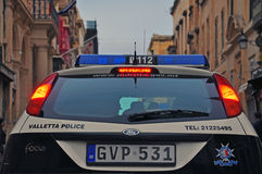 Coche policía de Malta Fotografía de archivo libre de regalías