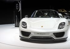 Coche Porsche 918 Spyder Fotos de archivo libres de regalías