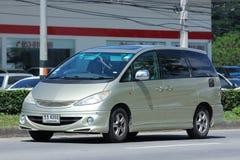 Coche privado de Toyota Estima fotos de archivo libres de regalías