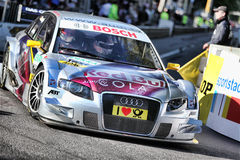 Coche que viaja de DTM - Audi A4 Fotos de archivo