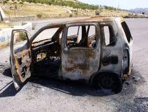 Coche quemado Foto de archivo libre de regalías