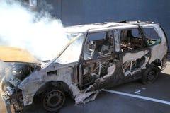 Coche quemado Imagen de archivo