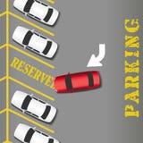 Coche reservado del éxito empresarial del estacionamiento Fotografía de archivo libre de regalías