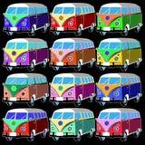 Coche retro de la libertad del vector de Van bus Imágenes de archivo libres de regalías