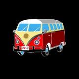 Coche retro de la libertad del vector de Van bus Fotografía de archivo libre de regalías