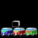 Coche retro de la libertad del vector de Van bus Foto de archivo