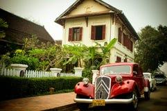 Coche retro de Luangprabang Foto de archivo libre de regalías