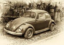 Coche retro del escarabajo fotografía de archivo libre de regalías