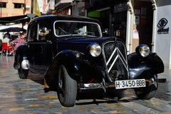 Coche retro en Cartagena foto de archivo