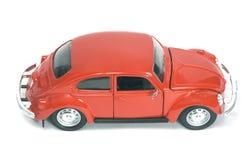 Coche retro rojo Foto de archivo libre de regalías