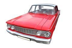 Coche retro rojo Fotografía de archivo libre de regalías