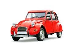 Coche retro rojo clásico Foto de archivo libre de regalías