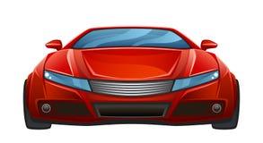 Coche rojo ilustración del vector