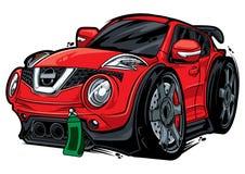Coche rojo stock de ilustración