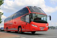 Coche rojo Bus de Neoplan Imagen de archivo