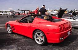 Coche rojo de Ferrari SuperAmerica Imagen de archivo libre de regalías