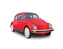 Coche rojo del escarabajo Imagen de archivo