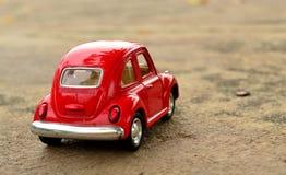 Coche rojo del juguete Fotografía de archivo
