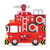 Coche rojo 1 del rescate Foto de archivo libre de regalías