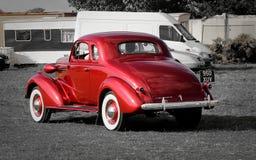 Coche rojo del vintage de Chevrolet Fotografía de archivo libre de regalías