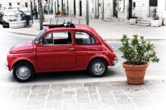 Coche rojo italiano Foto de archivo libre de regalías