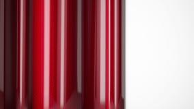 Coche rojo que envuelve cierre brillante de la fibra de carbono del carrete de película encima del fondo representación 3d ilustración del vector