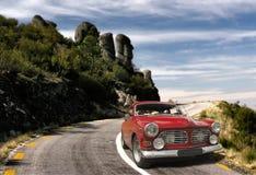 Coche rojo viejo Imagen de archivo libre de regalías