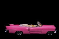 Coche rosado Toy Model de Caddilac Imagen de archivo