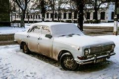 Coche soviético en Tiraspol, Transnistria Pridnestrovie fotografía de archivo libre de regalías