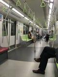 Coche típico del metro de Singapur Imagenes de archivo