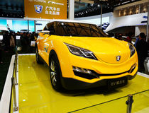 Coche Toyota EV del concepto Imagen de archivo libre de regalías