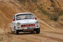 Coche trabante de Rallye Imagenes de archivo