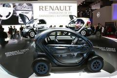 Coche twizy eléctrico de Renault Fotografía de archivo