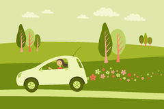 Coche verde libre illustration