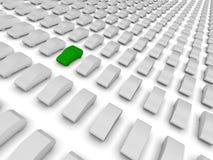 Coche verde que se destaca Fotografía de archivo libre de regalías