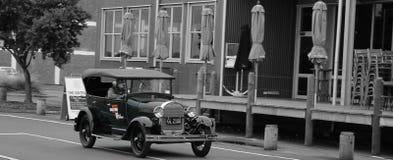 Coche viejo en Napier Foto de archivo