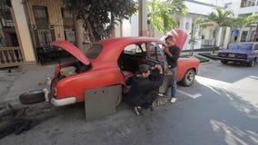 Coche viejo La Habana metrajes