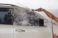 Coche washing Fotografía de archivo libre de regalías