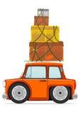 Coche y cajas Imágenes de archivo libres de regalías
