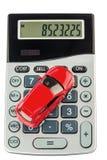 Coche y calculadora Fotografía de archivo libre de regalías