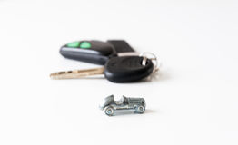 Coche y claves Imagen de archivo libre de regalías
