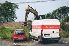 Coche y furgoneta parqueados Fotografía de archivo libre de regalías