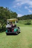 Cochecillo del golf Fotos de archivo